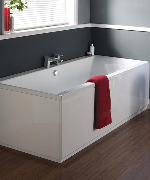Hudson Reed Classic Square 1700mm Double Ended Bath With Eternalite