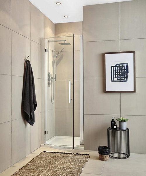 Additional image of Hudson Reed Apex 1900mm High Hinged Shower Door