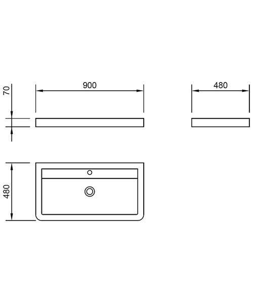 Alternate image of Pura Flite Double Drawer Floor Standing Unit And Basin