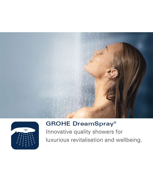 Additional image of Grohe New Tempesta 100 Hand Shower With Wall Holder Set