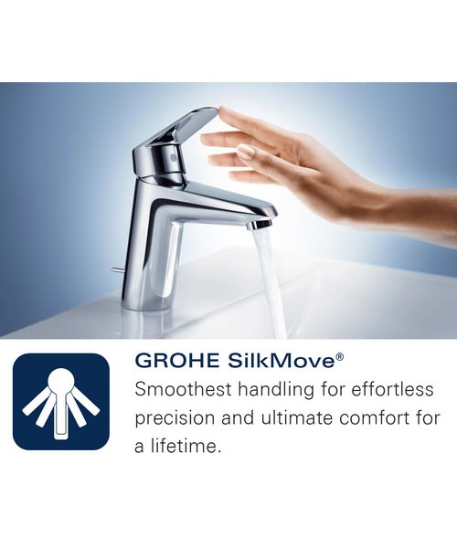 Additional image of Grohe Eurostyle S-Size Basin Mixer Tap With Pop-Up Waste