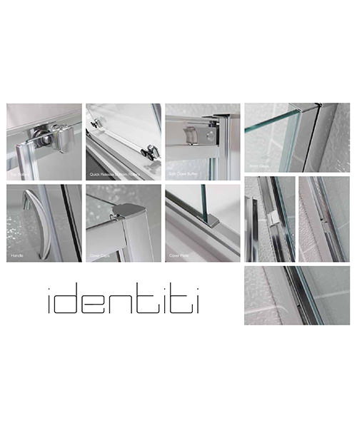 Additional image of April Identiti2 1500mm Sliding Shower Door