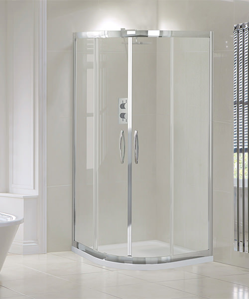 Additional image of Aquadart Venturi 8 1000 x 1000mm Double Door Shower Quadrant