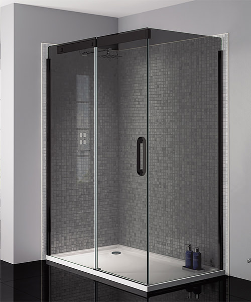 April Prestige Frameless 1200mm Smoked Black Sliding