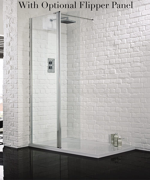 Additional image of Aquadart Wetroom 8 Walk-In 800mm Shower Panel