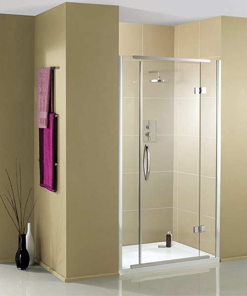 Additional image of Aquadart Inline 1200mm Recess Hinged Shower Door