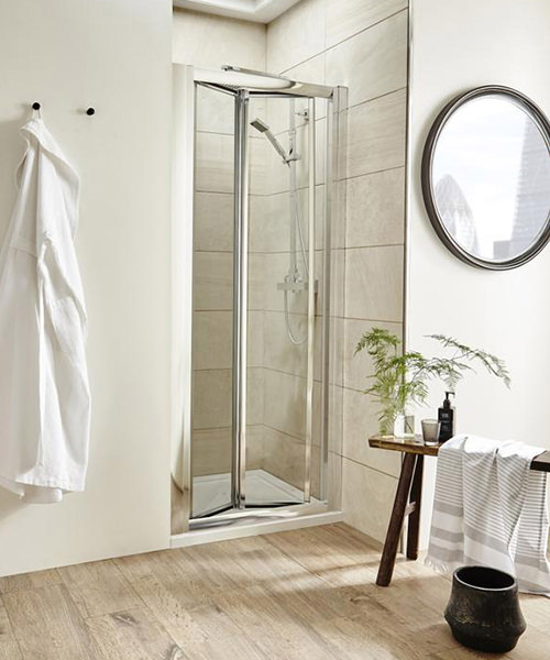 Additional image of Lauren Pacific 700 x 1850mm Bi-Fold Shower Door