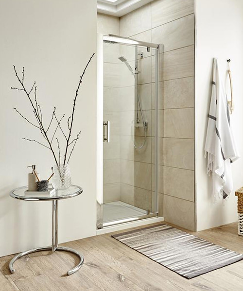 Lauren pacific 700 x 1850mm pivot shower door for 1800mm high shower door