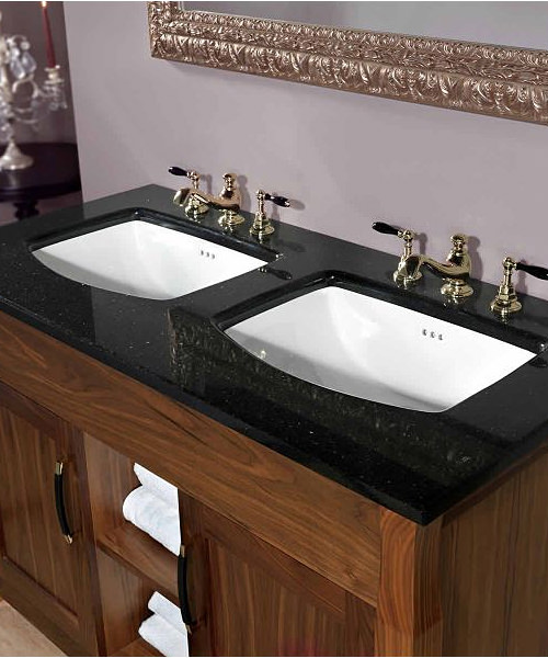 Additional image of Imperial Barrington Twin Vanity Unit 1240 x 840mm Wenge