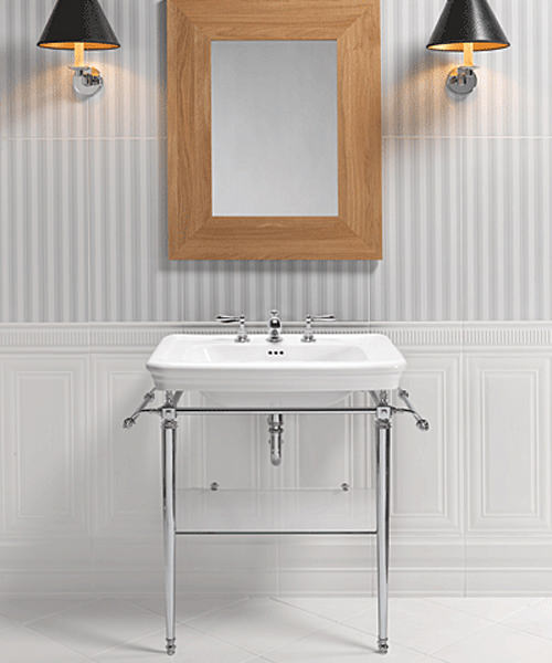 Additional image of Imperial Etoile Large Basin 700mm And Vergennes Chrome Basin Stand