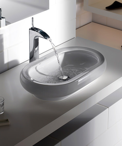 Additional image of Roca Evol Extended Basin Mixer Tap With Pop Up Waste