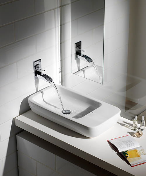Additional image of Roca Evol Wall Mounted Basin Mixer Tap