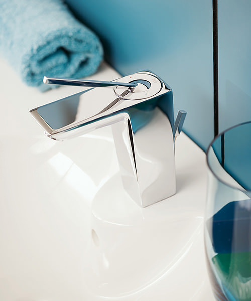 Additional image of Roca Touch Basin Mixer Tap With Pop Up Waste