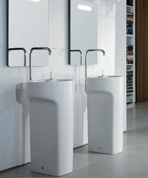 Additional image of Roca Amberes Freestanding Basin Solution 460x900mm Including Tap
