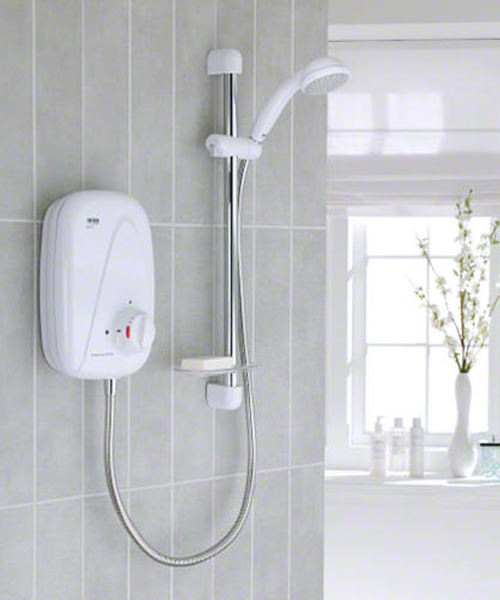 Additional image of Mira Vigour White And Chrome Manual Power Shower