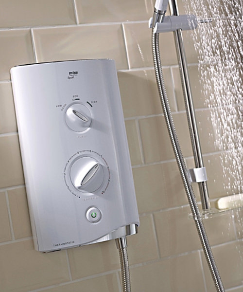 Additional image of Mira Sport Thermostatic Electric Shower 9.8kW White And Chrome