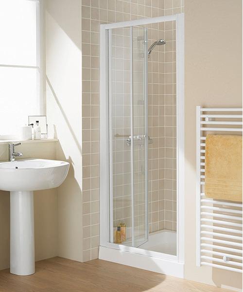 Additional image of Lakes Classic Bi-Fold Door Semi-Frameless - White - W 700 x H 1850mm
