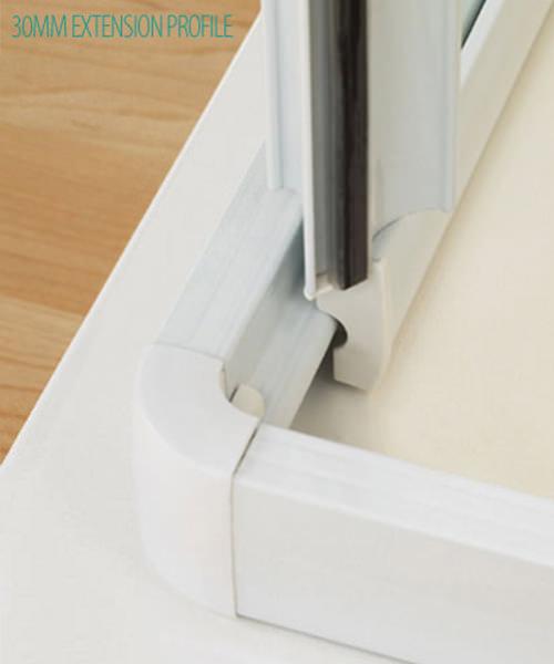 Additional image of Lakes Classic Semi-Frameless Bi-Fold Door 1000 x 1850mm White