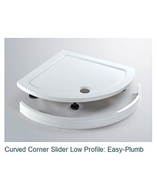 Additional image of Lakes Classic Curved Corner Slider Enclosure 900 x 1850mm Silver