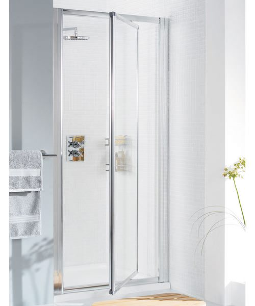 Additional image of Lakes Classic Silver Framed Pivot Door - W 700 x H 1850mm