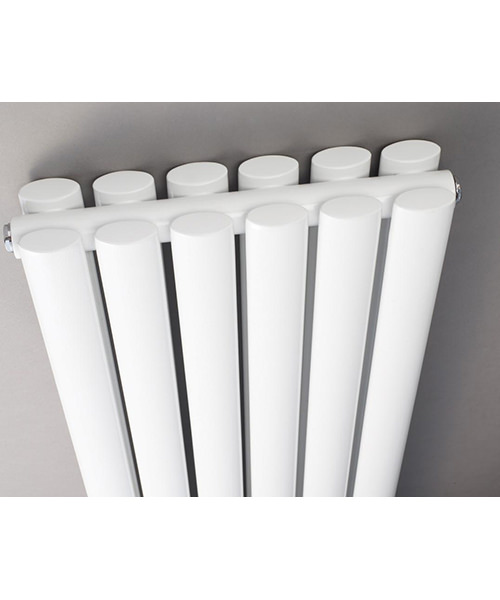 Additional image of Lauren Ricochet Double Panel 354 x 1800mm White Vertical Designer Radiator