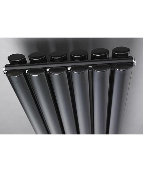Additional image of Lauren Ricochet Double Panel 354 x 1800mm Black Vertical Designer Radiator