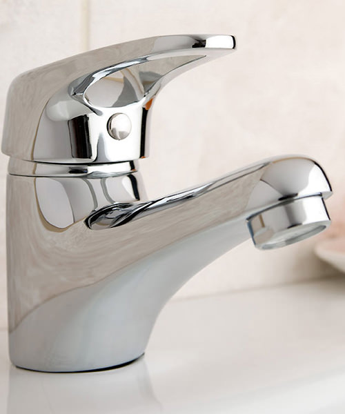 Additional image of Deva Lace Mono Basin Mixer Tap With Press Top Waste Chrome