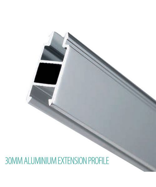Additional image of Lakes Classic Semi Frameless Quadrant Plus Shower Enclosure 1000mm Silver