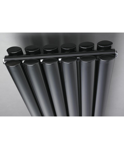 Additional image of Hudson Reed Revive 354 x 1800mm Black Double Panel Vertical Radiator