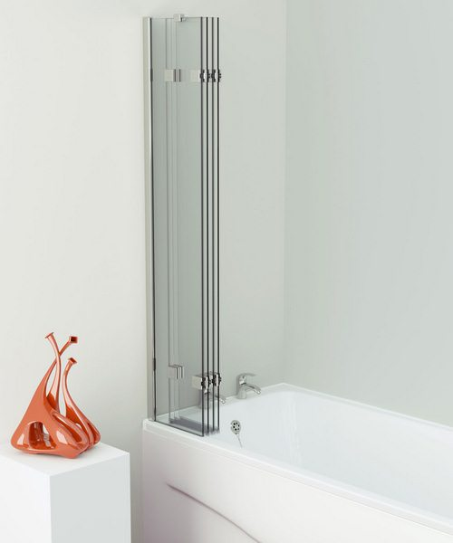 Additional image of Kudos Inspire 950 x 1500mm 4 Panel Compact In-Fold Bath Screen