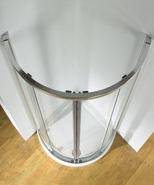 Additional image of Kudos Original White Frame Centre Access Curved Slider Door 910mm