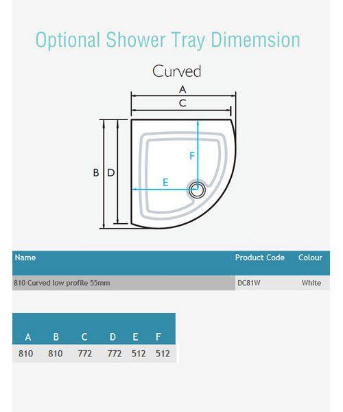 Additional image of Kudos Original White Frame Side Access Curved Slider Door 810mm