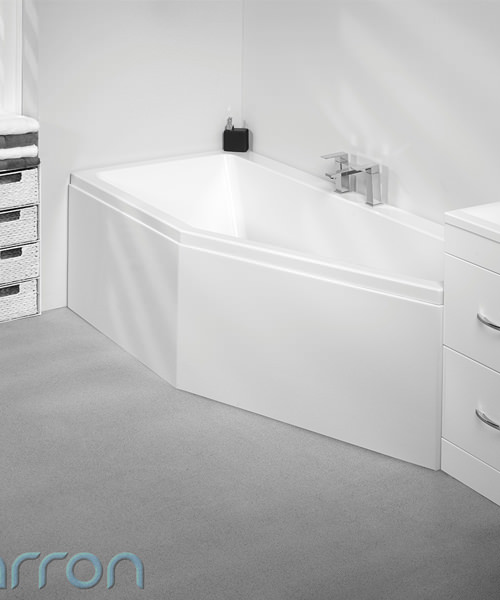 Additional image of Carron Quantum 1700 x 750mm Right Handed Space Saver Acrylic Corner Bath White