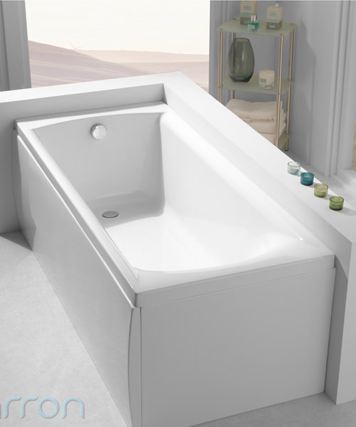 Additional image of Carron Delta 5mm Acrylic Single Ended Bath 1600 x 700mm