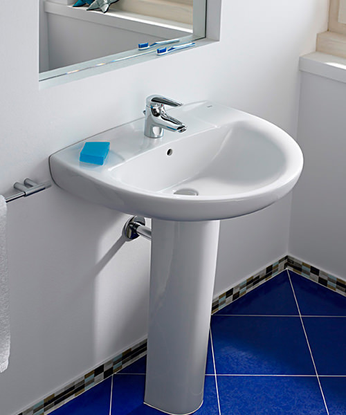 Additional image of Roca Laura 600 x 490mm Wall Hung Basin With 1 Taphole