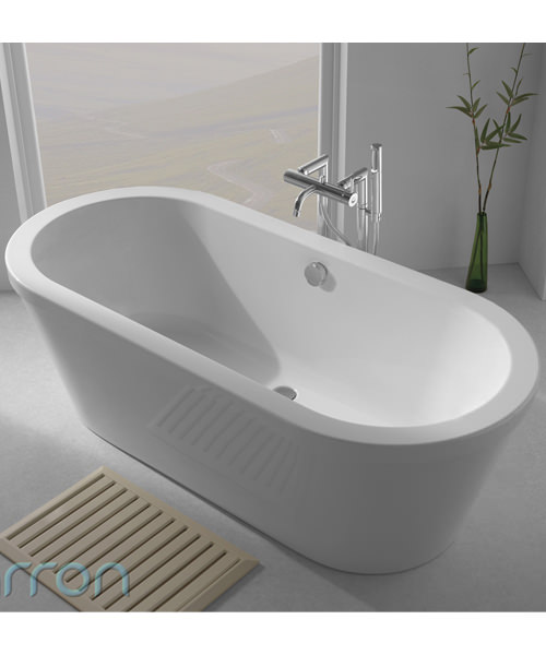 Additional image of Carron Halcyon Oval Freestanding Carronite Bath 1750 x 800mm White