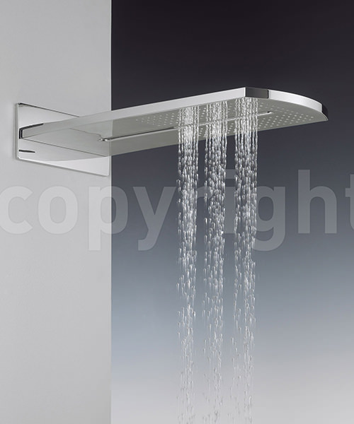 Additional image of Crosswater Elite Rectangular Fixed Overhead Shower