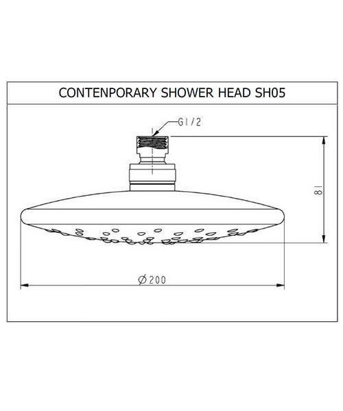 Alternate image of Deluxe Thermostatic Shower Set- Rigid Riser- Handset- Showerhead