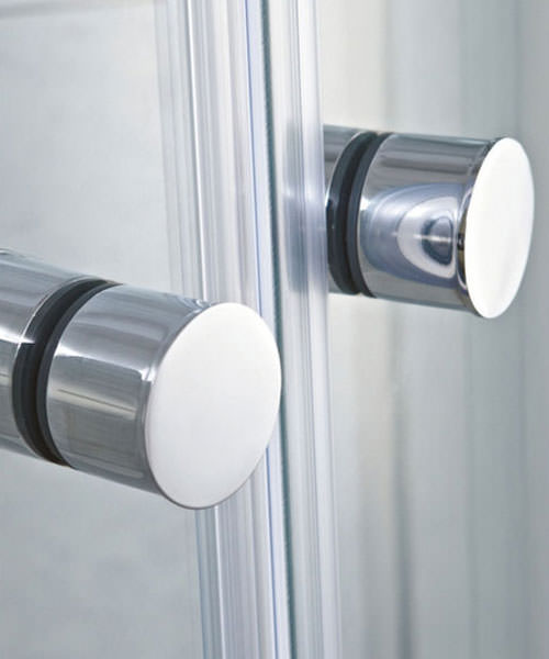 Additional image of Phoenix Frameless Single Slider Shower Door 1400mm