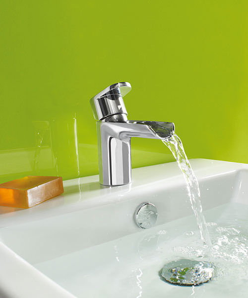 Additional image of Roper Rhodes Stream Open Spout Basin Mixer Tap With Click Waste