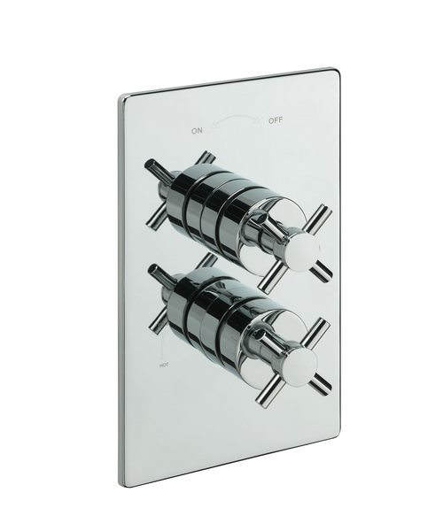 Alternate image of Tre Mercati Crosshead Concealed Valve With 2 Way Diverter And Shower Set