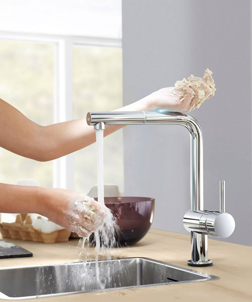 Alternate image of Grohe Minta Sink Tap With Pull Out Spout Extractable Mousseur Chrome