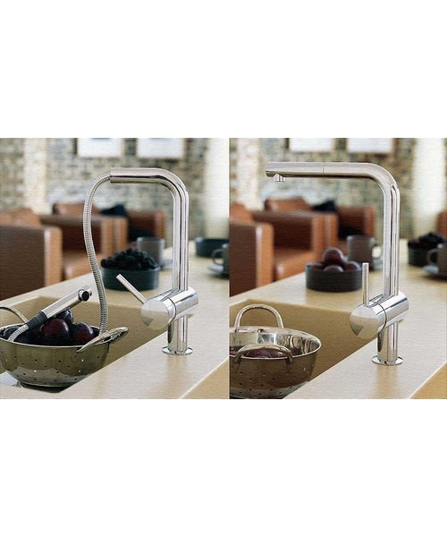 Additional image of Grohe Minta Sink Tap With Pull Out Spout Extractable Mousseur Chrome
