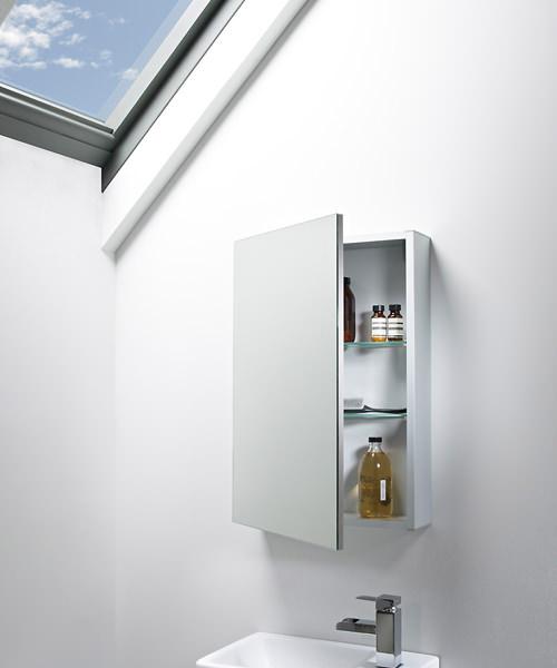 Additional image of Tavistock Balance Aluminium Single Mirror Door Cabinet - W 440 x H 650mm