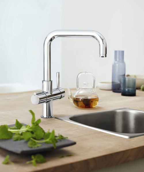 Additional image of Grohe Red Duo Chrome U-Spout Faucet And Single-Boiler 3 Litres