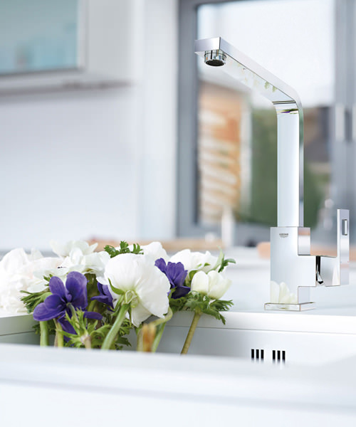 Alternate image of Grohe Eurocube 1-2 Inch Kitchen Sink Mixer Tap Chrome