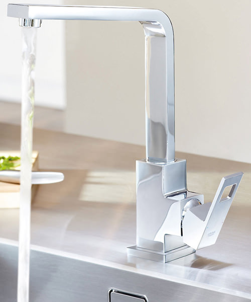 Additional image of Grohe Eurocube 1-2 Inch Kitchen Sink Mixer Tap Chrome