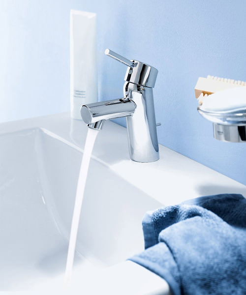 Additional image of Grohe Concetto 1-2 Inch Monobloc Basin Mixer Tap With Pop Up Waste