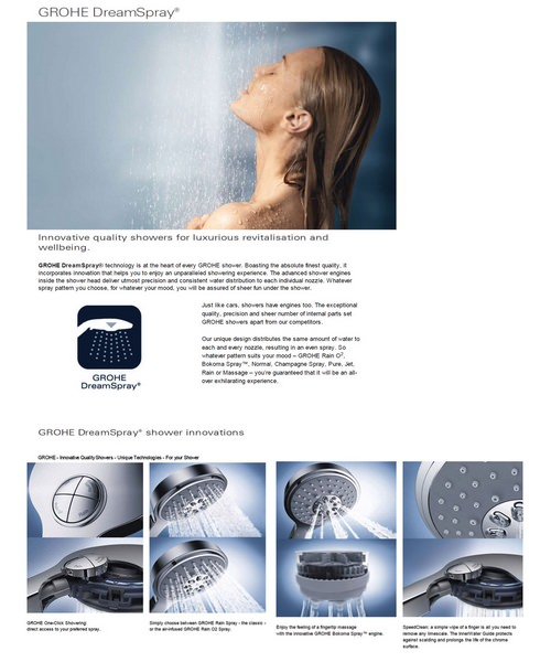 Alternate image of Grohe Grohtherm 2000 Power And Soul Shower Solution Pack 1