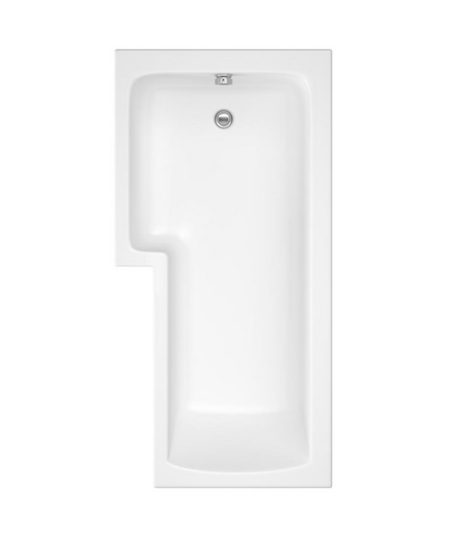 Additional image of Lauren Square 1700 x 850mm Left Hand Acrylic Shower Bath Pack